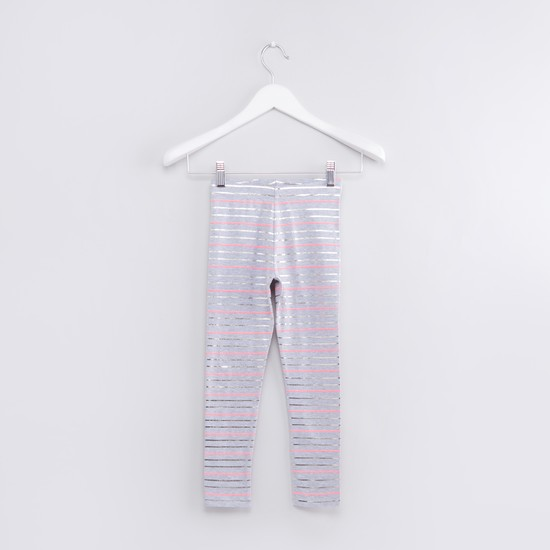 Striped Leggings with Elasticised Waistband