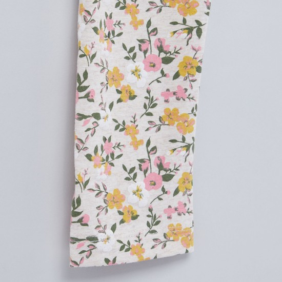 Floral Printed Leggings with Elasticised Waistband