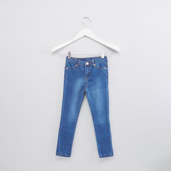 بنطال جينز طويل بزر للإغلاق