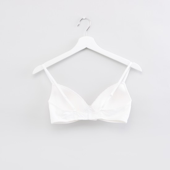 Assorted Padded Plunge Bra with Hook and Eye Closure - Set of 2