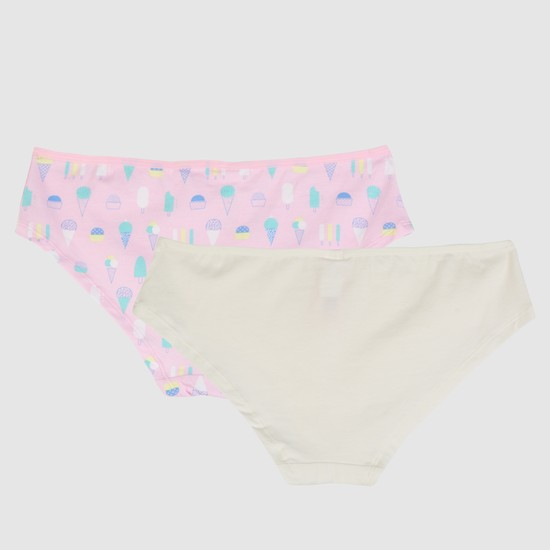 Briefs with Elasticised Waistband - Set of 2