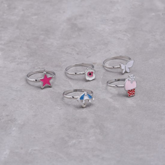 Enamelled Rings Set