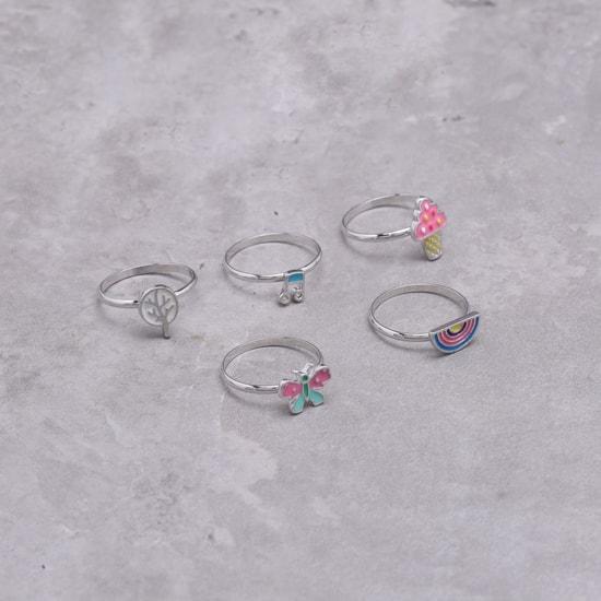 Enamelled Rings Set