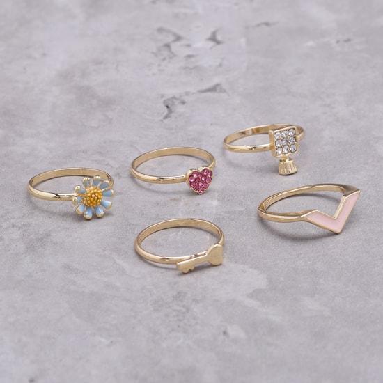 Metallic Rings Set