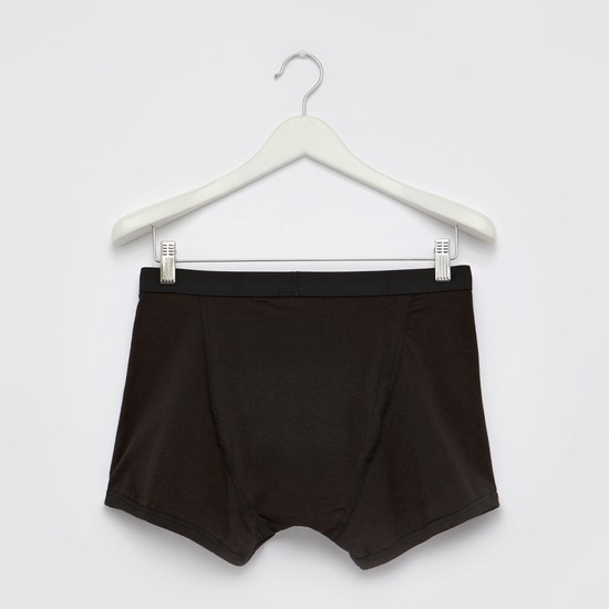 Set of 2 - Plain Trunks with Elasticised Waistband