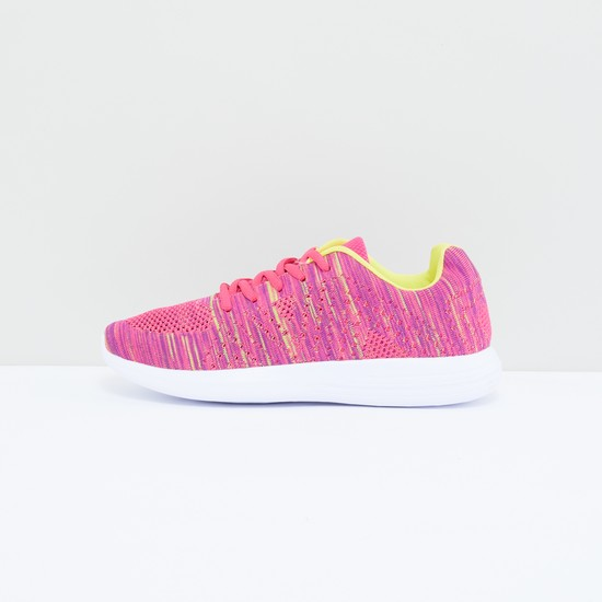 Textured and Printed Lace-Up Shoes