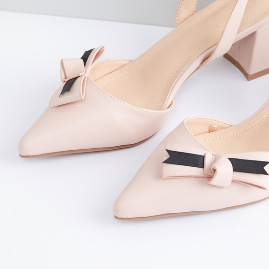 Bow Applique Detail Shoes with Pin Buckle Closure