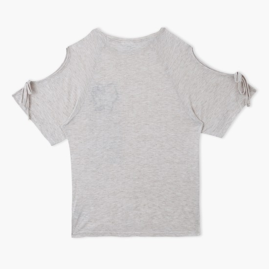 Hello Kitty Printed Round Neck T-Shirt