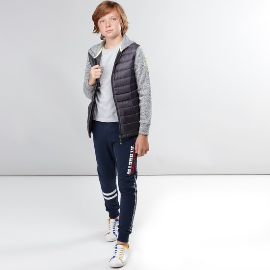 Textured Hooded Jacket with Pocket Detail and Zip Closure