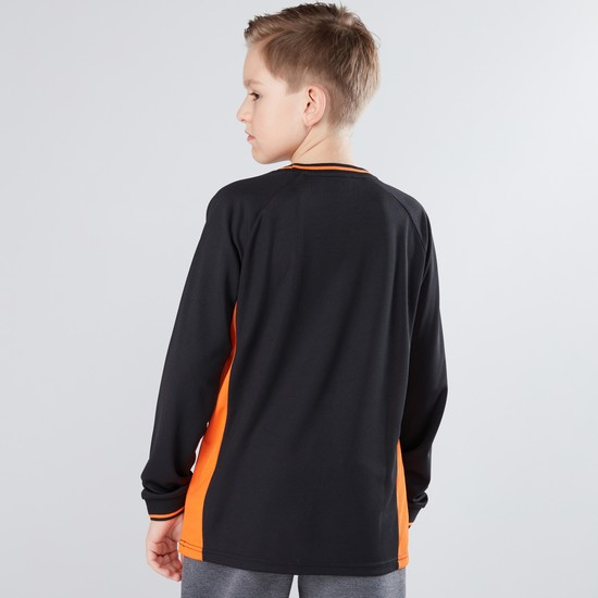 Printed Round Neck Long Sleeves T-Shirt