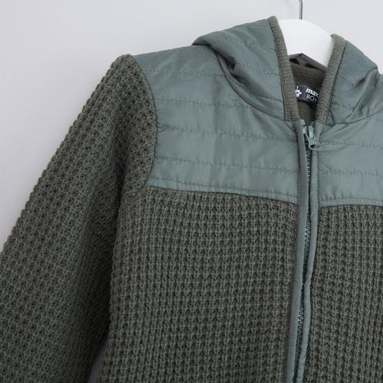 Textured Long Sleeves Jacket