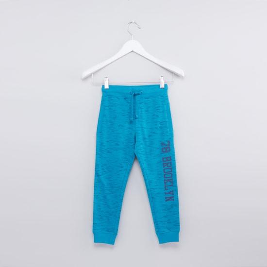 Printed Full Length Jog Pants with Elasticised Waistband