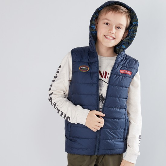 Quilted Sleeveless Pocket Detail Jacket