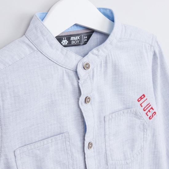Textured Long Sleeves Shirt