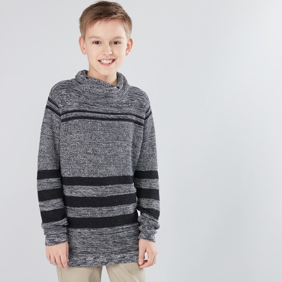 High Neck Long Sleeves Sweater