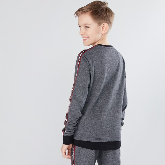 Tape Detail Long Sleeves Sweatshirt