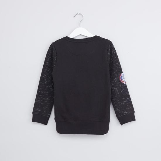 Applique Detail Long Sleeves Sweatshirt