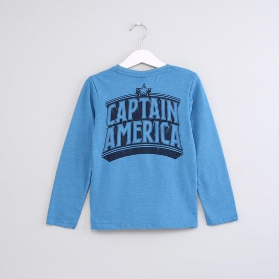 Captain America Printed Long Sleeves T-Shirt