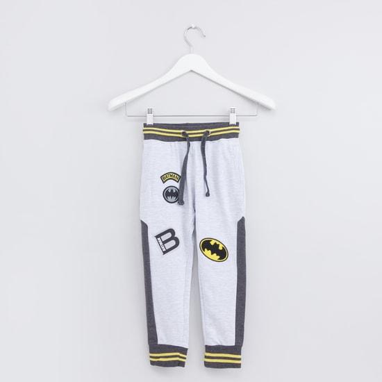 Batman Printed Jog Pants with Elasticised Waistband and Drawstring