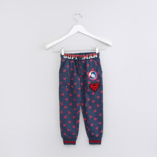 Superman Printed Pocket Detail Jog Pants with Drawstring