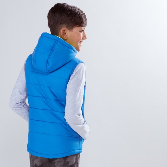 Sleeveless Pocket Detail Jacket