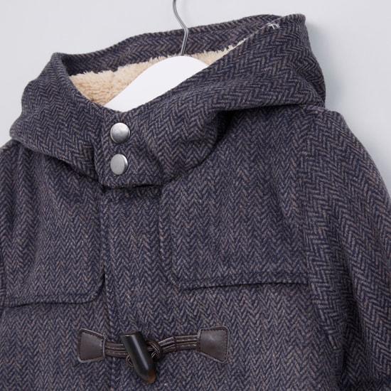 Textured Long Sleeves Pocket Detail Jacket