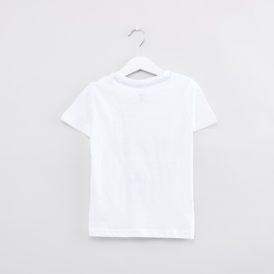 Graphic Printed Round Neck Short Sleeves T-Shirt
