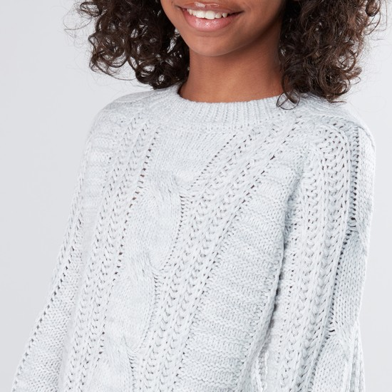 Round Neck Long Sleeves Sweater