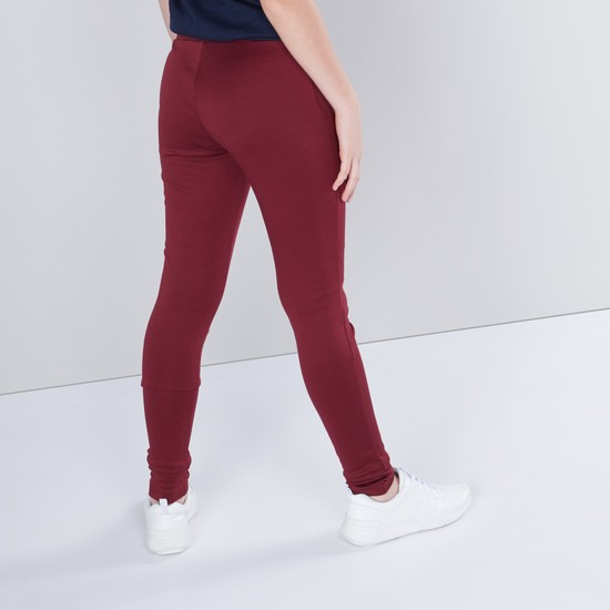Solid Ponte Jeggings with Two-Zippered Pockets
