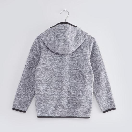 Polar Fleece Jacket with Hood and Long Sleeves