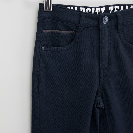 Full Length Plain Pants with Pocket Detail and Belt Loops