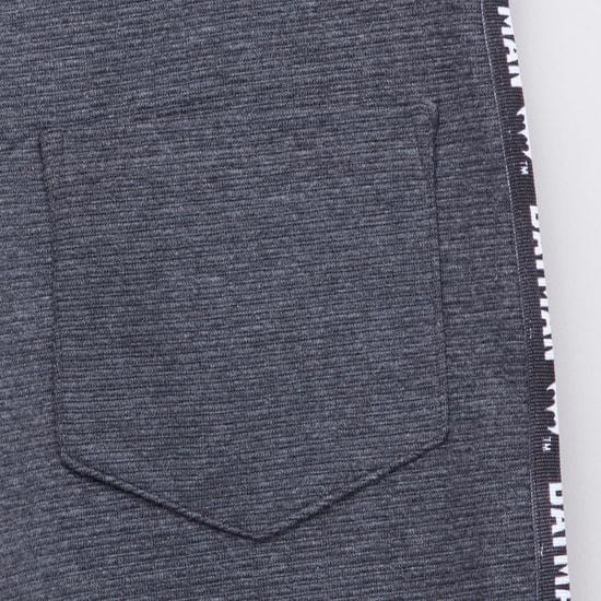 Full Length Batman Embossed Jog Pants with Pocket Detail