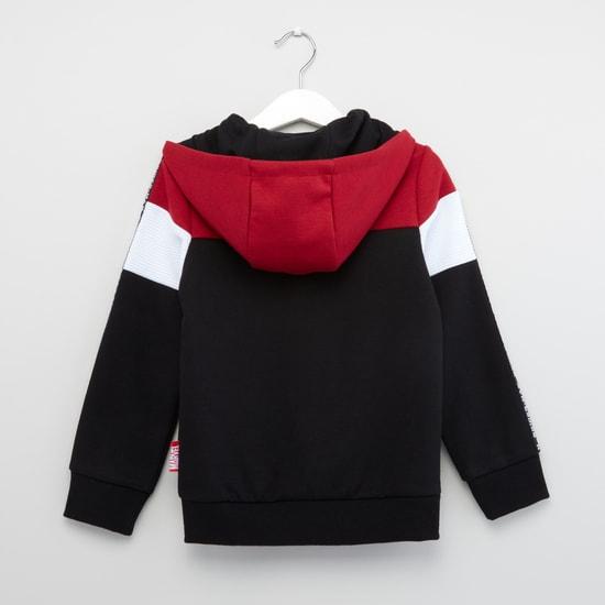 Spider-Man Print Sweatshirt with Front Zip Closure