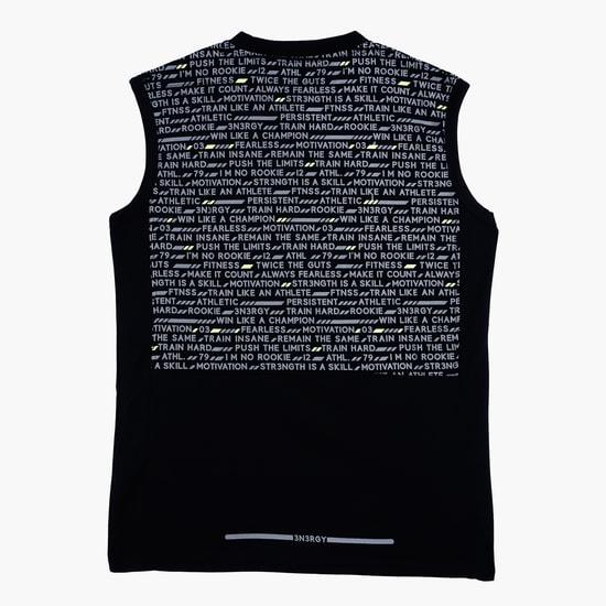 Printed Sleeveless Vest