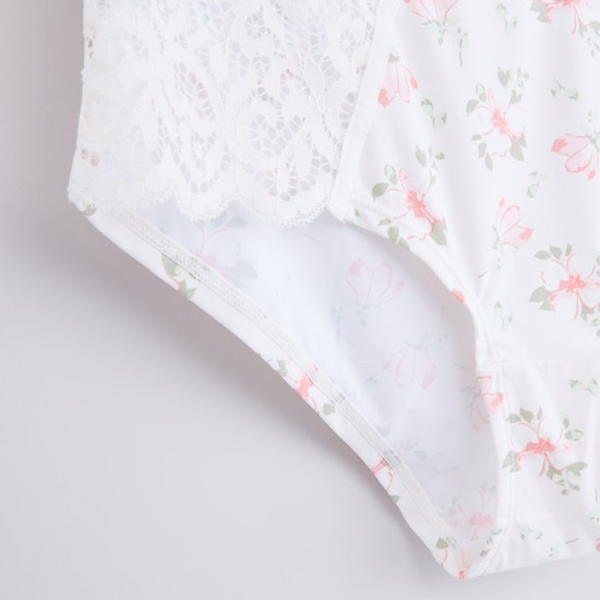 Floral Printed Hipster Briefs with Elasticised Waistband