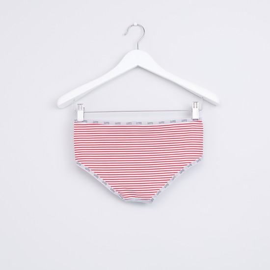 Striped Hipster Briefs with Elasticised Waistband