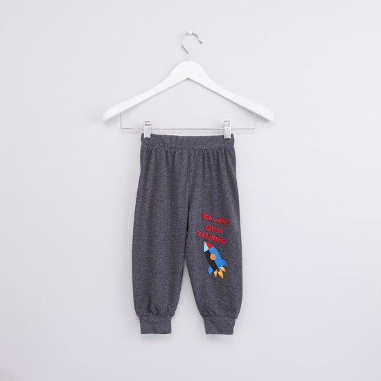 Applique Detail T-Shirt with Jog Pants