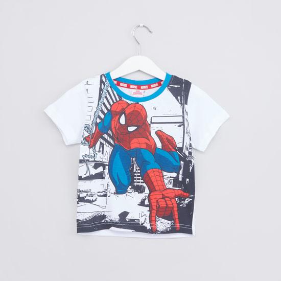 Spider-Man Printed T-Shirt with Jog Pants