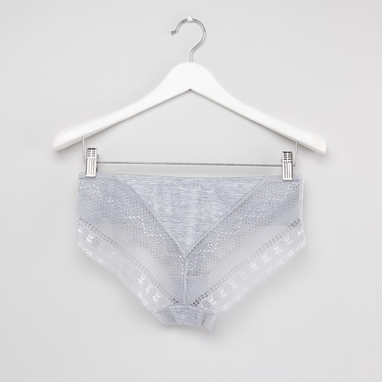 Set of 2 Printed Hipster Briefs with Elasticated Waistband