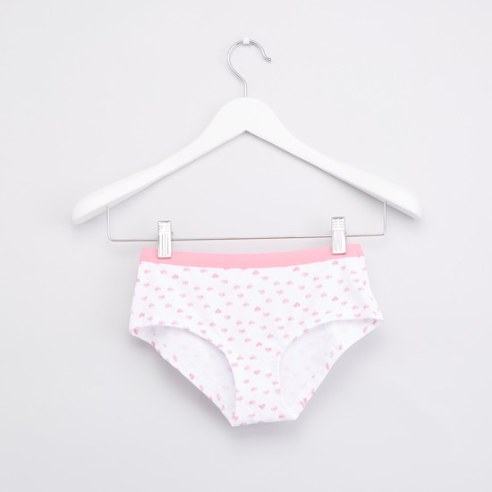 Set of 5 - Printed Briefs with Wide Elasticised Waistband