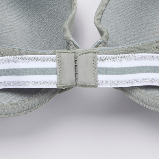 Plain Plunge Bra with Hook and Eye Closure