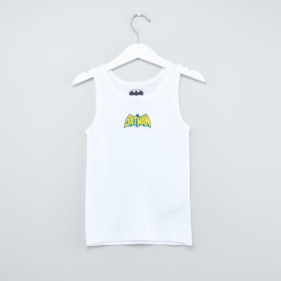 Set of 2 - Batman Printed Sleeveless Vest with Scoop Neck