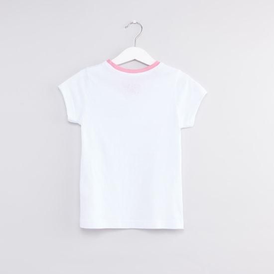 Set of 2 - Printed Round Neck T-shirts and Pyjama Pants