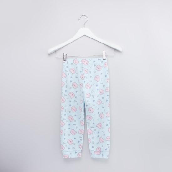 Printed T-shirt and Full Length Jog Pants Set