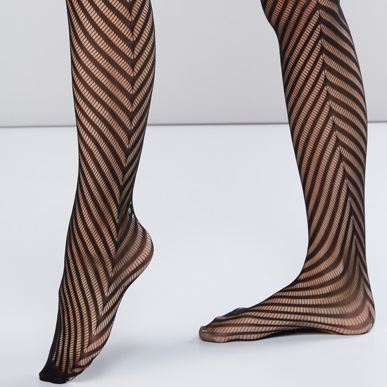 Textured 40D Closed Feet Tights