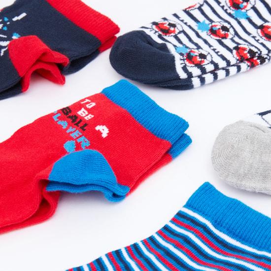 Assorted Printed Socks - Set of 5