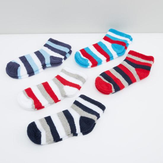 Striped Ankle Length Socks - Set of 5