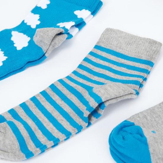 Printed Ankle Length Socks - Set of 3