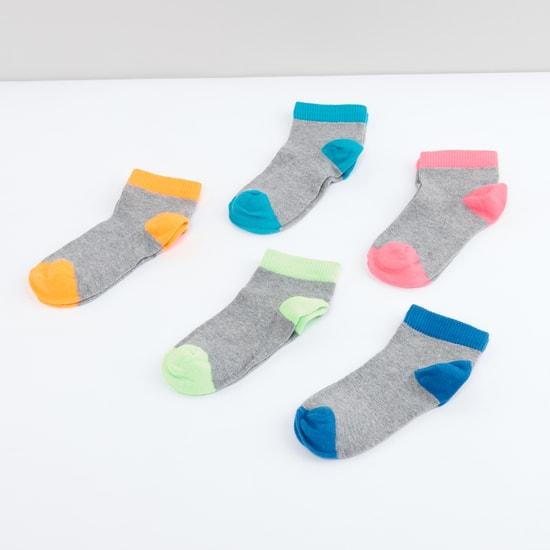 Ribbed Ankle Length Socks - Set of 5