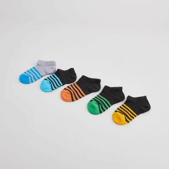 Set of 5 - Striped Ankle Length Socks